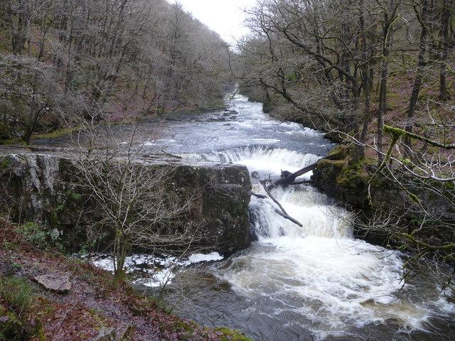 horseshoe-falls-2 wild swimming brecon beacons